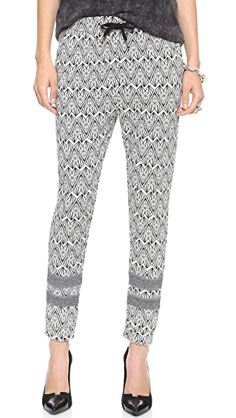 Maison Scotch Geometric Jacquard Jogger Pants
