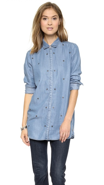 Maison Scotch Star Studded Button Down Shirt