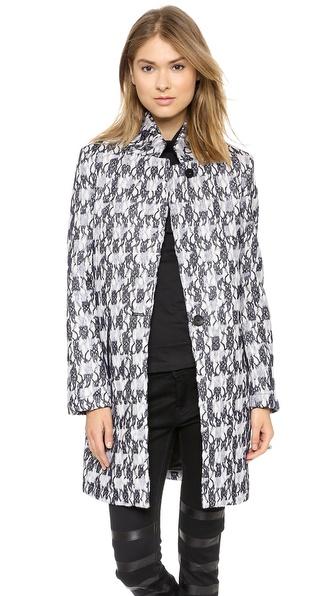 Maison Scotch Multi Fabric Long Coat