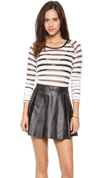 Maison Scotch Striped Long Sleeve Sweater
