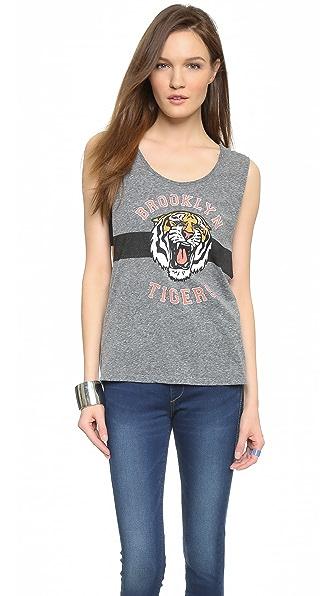 Майка с эмблемой «Brooklyn Tigers» Maison Scotch. Цвет: серый меланж
