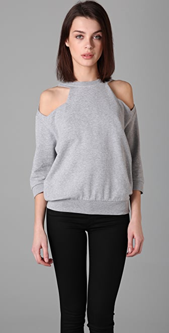 MM6 Open Shoulder Sweatshirt