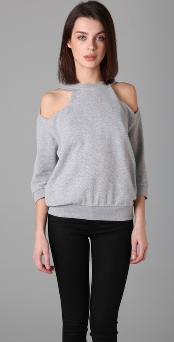 MM6 Maison Martin Margiela Open Shoulder Sweatshirt