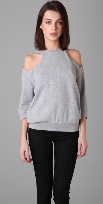 MM6 Maison Martin Margiela Open Shoulder Sweatshirt
