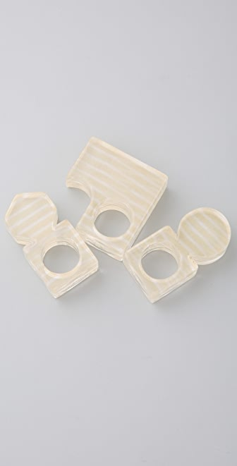 MM6 Maison Martin Margiela Shape Ring Set