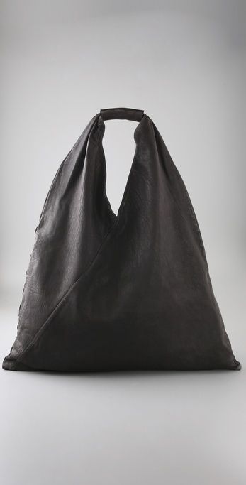 MM6 Maison Martin Margiela Leather Slouch Bag