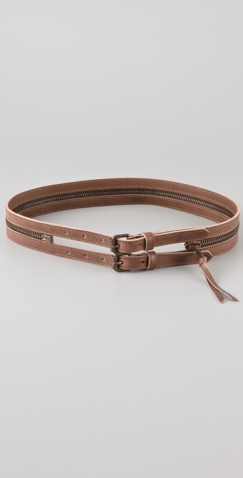 MM6 Maison Martin Margiela Double Zipper Belt