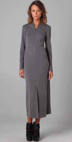 MM6 Maison Martin Margiela Long Sleeve Dress with Slit Details