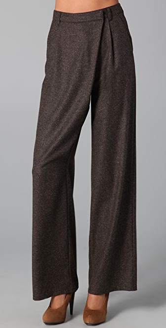 MM6 Asymmetrical Wide Leg Pants