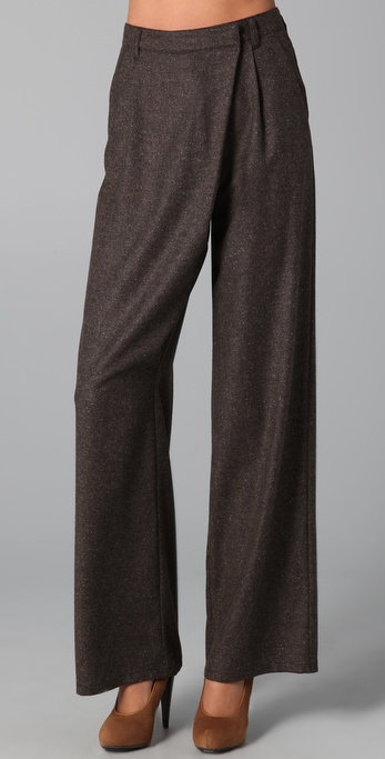 MM6 Maison Martin Margiela Asymmetrical Wide Leg Pants