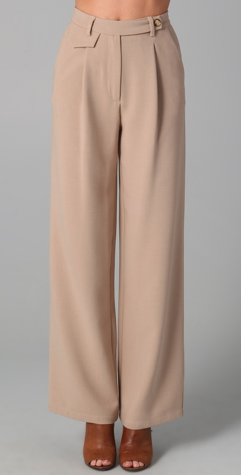 MM6 Maison Martin Margiela Wide Leg Trousers
