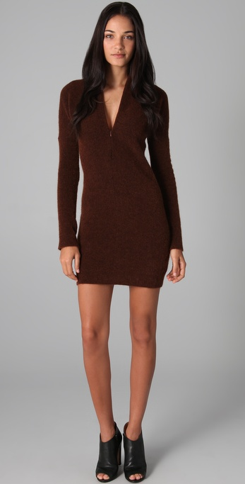 MM6 Maison Martin Margiela V Neck Sweater Dress