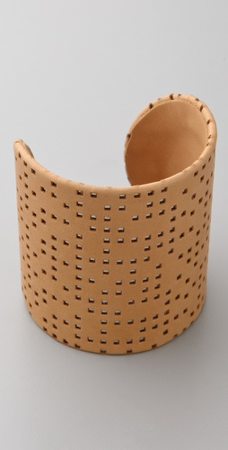 MM6 Maison Martin Margiela Leather and Brass Cuff