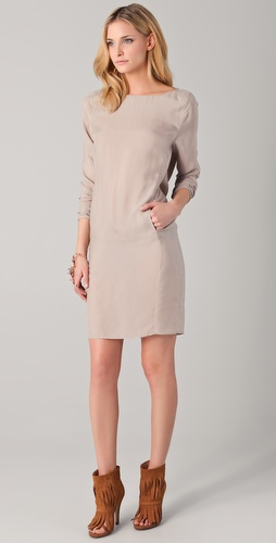 MM6 Maison Martin Margiela Long Sleeve Open Back Dress