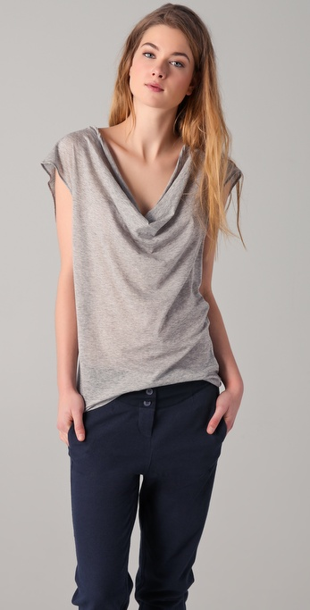 MM6 Maison Martin Margiela Scoop Neck Top w/ Back Tie Detail