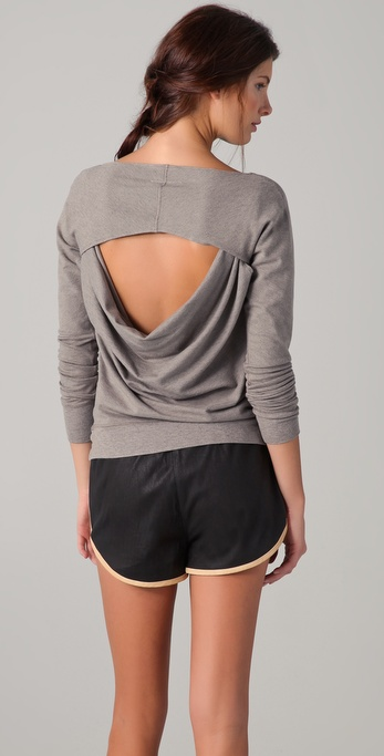 MM6 Maison Martin Margiela Open Back Sweatshirt