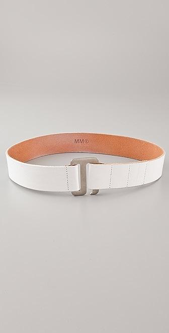 MM6 Vintage Leather Belt