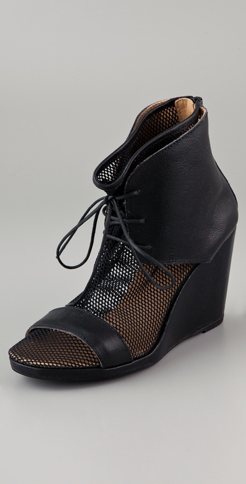 MM6 Maison Martin Margiela Netted Sock Wedge Booties