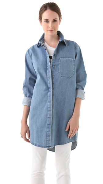 MM6 Maison Martin Margiela Oversized Denim Shirt