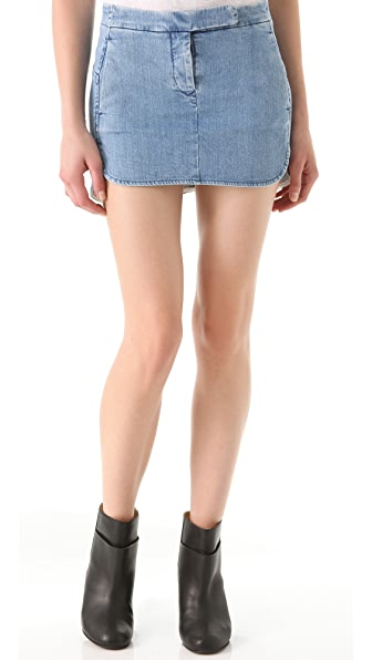 MM6 Maison Martin Margiela Stonewashed Denim Skirt
