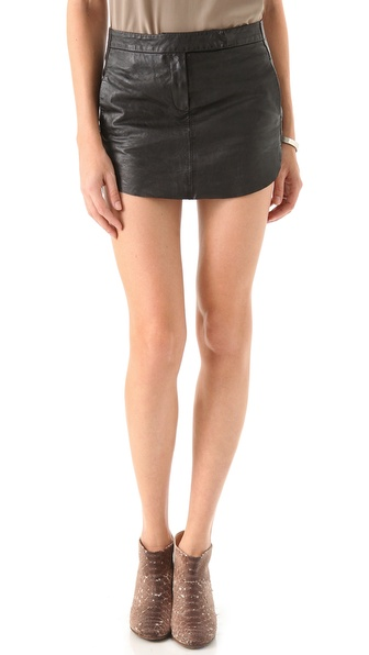 MM6 Maison Martin Margiela Leather Miniskirt