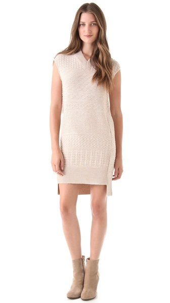 MM6 Maison Martin Margiela Textured Knit Dress