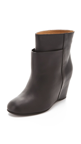 MM6 Maison Martin Margiela Overlasted Wedge Booties