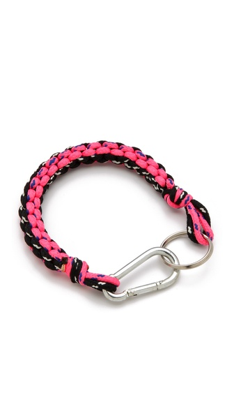 MM6 Maison Martin Margiela Braided Neon Keychain