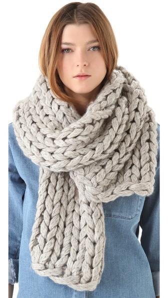 mm6 chunky knit scarf shopbop