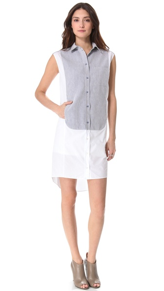 MM6 Maison Martin Margiela Paneled Sleeveless Tunic Dress