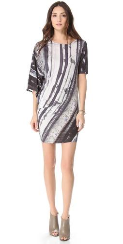MM6 Maison Martin Margiela Printed Twist Dress