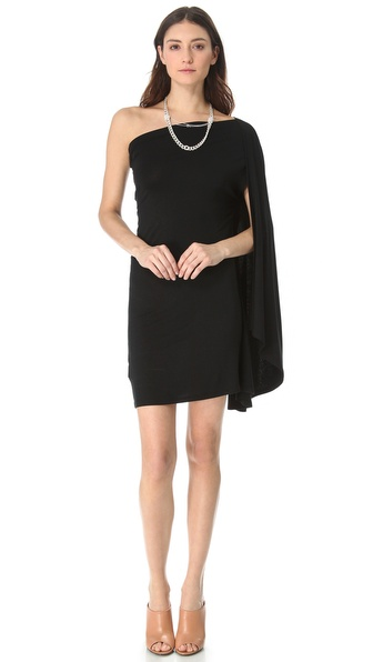 MM6 Maison Martin Margiela One Shoulder Drape Dress