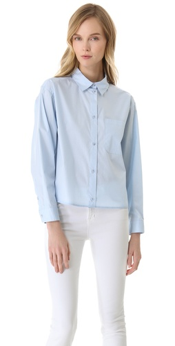 Shop MM6 Maison Martin Margiela Cotton Button Down Shirt and MM6 Maison Martin Margiela online - Apparel,Womens,Tops,Buttondown, online Store
