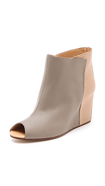 MM6 Maison Martin Margiela Open Toe Wedge Booties