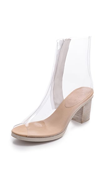 MM6 Maison Martin Margiela Clear Open Toe Booties