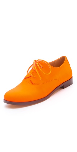 Shop MM6 Maison Martin Margiela Lace Up Oxfords and MM6 Maison Martin Margiela online - Footwear,Womens,Footwear,Flats, online Store