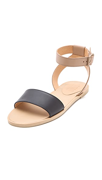 MM6 Maison Martin Margiela Contrast Band Flat Sandals