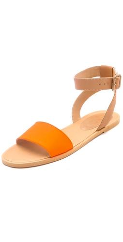 MM6 Maison Martin Margiela Contrast Band Flat Sandals