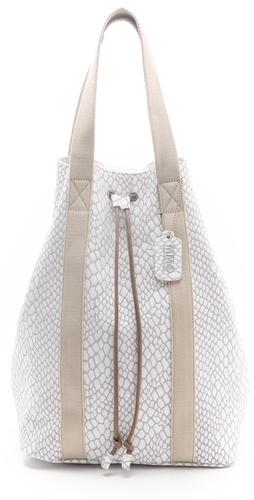 Shop MM6 Maison Martin Margiela Drawstring Convertible Tote and MM6 Maison Martin Margiela online - Accessories,Womens,Handbags,Tote, online Store