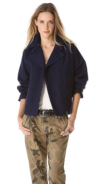MM6 Boxy Collar Jacket