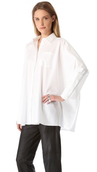 MM6 Maison Martin Margiela Dolman Button Up Blouse