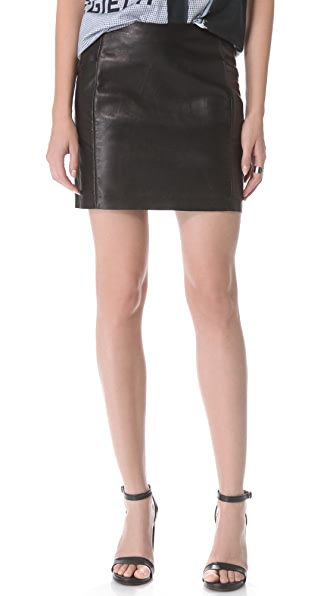 MM6 Maison Martin Margiela Leather Skirt