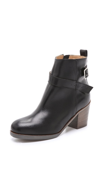 MM6 Maison Martin Margiela Stacked Heel Buckle Booties