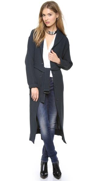 MM6 Maison Martin Margiela Long Cardigan Coat