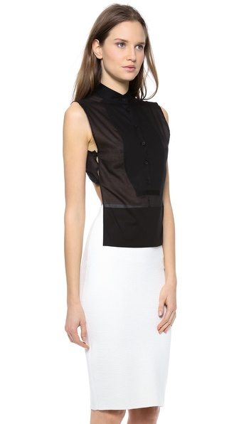 MM6 Maison Martin Margiela Sleeveless Buttondown Top