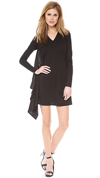 MM6 V Neck Long Sleeve Dress