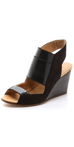 MM6 Maison Martin Margiela Cutout Wedge Sling Sandals at Shopbop / East Dane