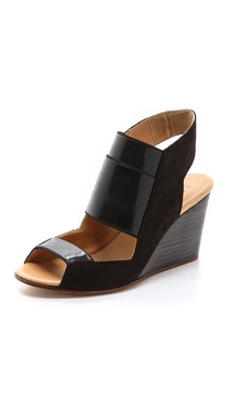 MM6 Maison Martin Margiela Cutout Wedge Sling Sandals