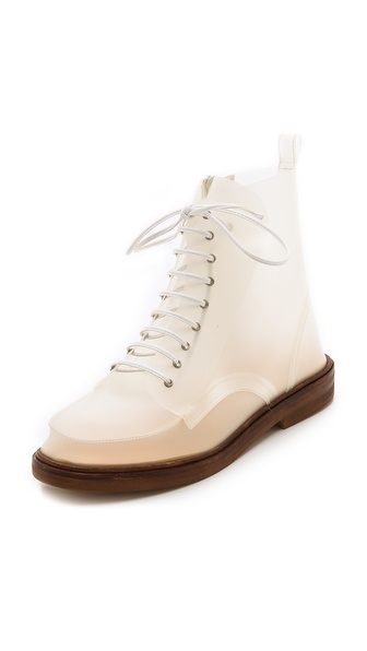 MM6 Maison Martin Margiela Translucent Lace Up Boots