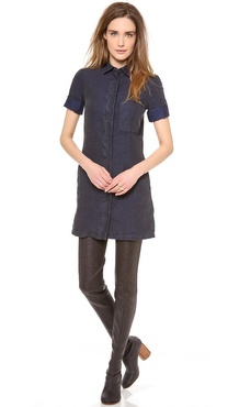 MM6 Maison Martin Margiela Front Pocket Shirtdress